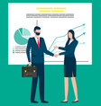business partners man and woman in office vector image vector image
