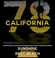 California typography graphics t-shirt printing
