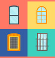 cartoon windows set on a color background vector image vector image