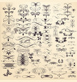 collection of hand drawn flourishes for design vector image vector image
