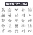 community line icons signs set outline vector image vector image
