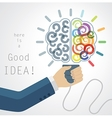 Creative Brain Idea vector image vector image