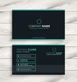 dark clean business card vector image vector image