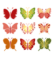 Decorative butterflies vector image