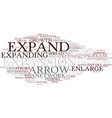 expand word cloud concept vector image vector image