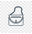 female handbag concept linear icon isolated on vector image