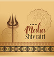 festival greeting for maha shivratri with trishul vector image vector image