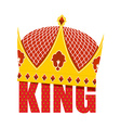 Gold Crown with diamonds Crown for King Ro vector image