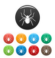 grass spider icons set color vector image