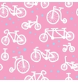 Hand drawn bicycle pattern vector image vector image