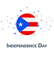 independence day of puerto rico patriotic banner vector image