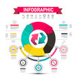 infographic design with arrows data flow chart vector image vector image