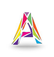 initials letter a full of colors with a vector image vector image