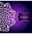 Invitation card with Lacy mandala in the Indian vector image vector image