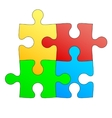 Jigsaw puzzle in four colors vector image vector image