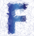 letter F low poly vector image
