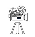 line movie camera to projection scene vector image