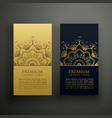 luxury mandala style card design vector image vector image