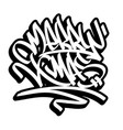 merry christmas graffiti style outline lettering vector image vector image