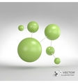 Molecular structure with spheres 3d vector image vector image