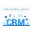organization of data on work with clients crm vector image vector image