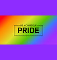 pride banner background with lgbt vector image