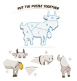 Puzzle game for chldren goat vector image vector image