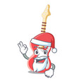 santa electric guitar isolated with the mascot vector image