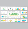 science and research multipurpose presentation vector image vector image