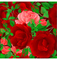 seamless texture floral bunch with roses vector image