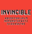set alphabets font modern design 3d concept vector image vector image
