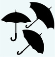 Set black umbrella vector image