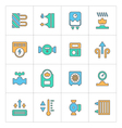 Set line icons of heating vector image vector image