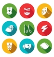 Set of Hospital Icons Drip Patient Mask vector image