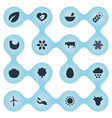 set of simple energy icons vector image vector image