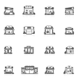 Store Buildings Set vector image vector image