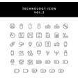 technology outline icon set vol2 vector image vector image