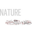 the nature s opportunity text background word vector image vector image