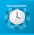 time management concept with realistic detailed 3d vector image vector image