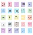 tourism set black icon on color sticker vector image vector image