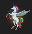 unicorn horse graphic vector image