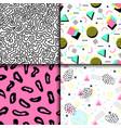 universal memphis 80-90 seamless pattern endless vector image vector image