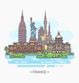 usa landmarks statue of liberty capitol vector image