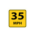 usa traffic road signs maximum advised speed in vector image