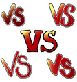 versus letters symbol competition vs vector image