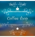 Vintage Coffee Shop card with monograms and vector image