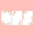 watercolor pink bougainvillea with minimal line vector image vector image