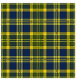 Yellow Tartan Design vector image vector image
