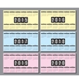 calendar grid 2015 2016 2020 for business card vector image