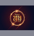 2019 happy new year shiny background design vector image vector image
